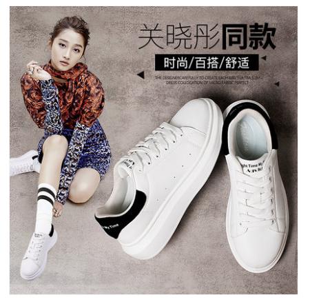 """国民闺女关晓彤代言的奥古狮登小白鞋""""火""""了,这几款最好看"""