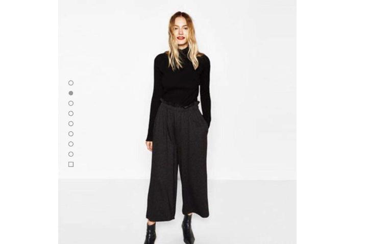 阔腿裤女裤长裤?ZARA阔腿裤穿着好看吗?