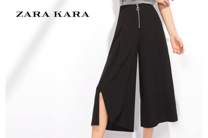 zara阔腿七分裤怎么搭配?穿上舒服吗?
