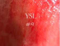适合春夏的水红色 ysl镜面唇釉#9分享