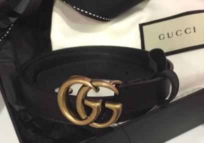 gucci皮带黑色好看还是黑棕色?在哪能买?